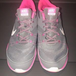 Nike Flex Gray Pink Workout shoes